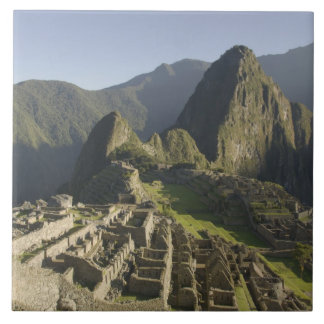 Machu Picchu, ruins of Inca city, Peru. Ceramic Tile
