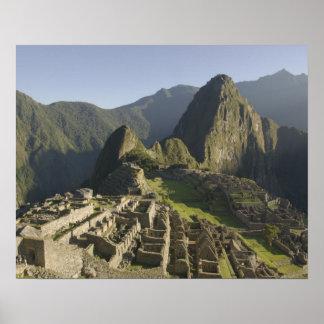 Machu Picchu ruins of Inca city Peru Poster