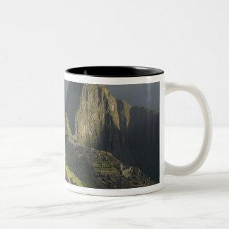 Machu Picchu, ruins of Inca city, Peru. Two-Tone Coffee Mug