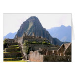 Machu Picchu Ruins Peru Huayna Picchu Artisan Wall Greeting Cards