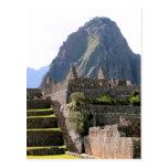 Machu Picchu Ruins Peru Huayna Picchu Artisan Wall Postcard
