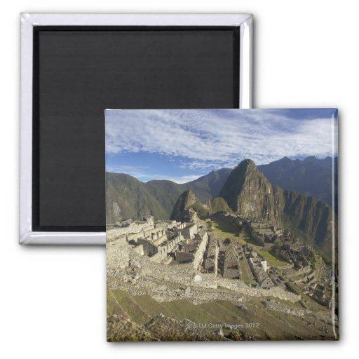 Machu Picchu, sitio del patrimonio mundial de la U Imán Cuadrado