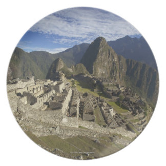 Machu Picchu, UNESCO World Heritage Site, Aguas Melamine Plate