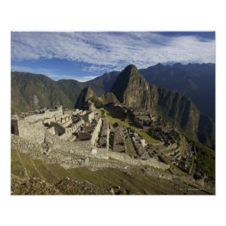 Machu Picchu, UNESCO World Heritage Site, Aguas Poster