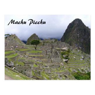 machu picchu view postcard