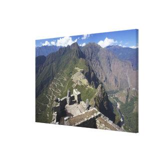 Machu Picchu viewed from Huayna Picchu peak, Stretched Canvas Prints