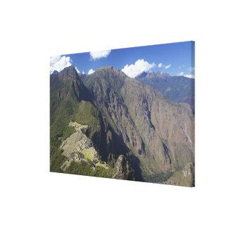 Machu Picchu viewed from Huayna Picchu, UNESCO Canvas Print