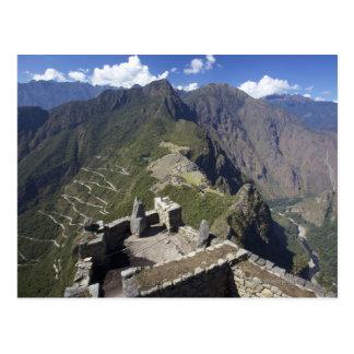 Machu Picchu visto del pico de Huayna Picchu, Postales