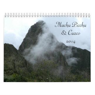 Machu Picchu y Cuzco, calendario de Perú 2014