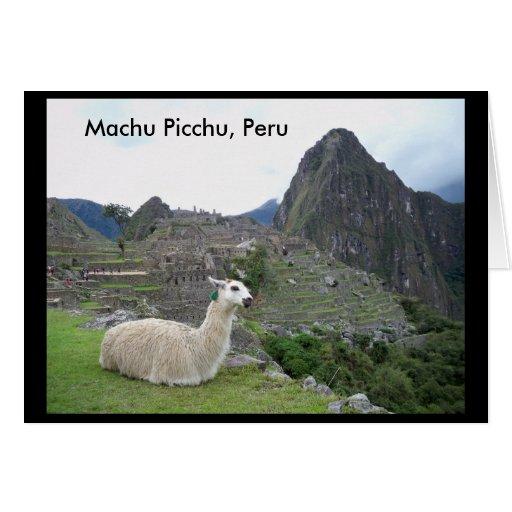 Machu tarjeta de Picchu, Perú