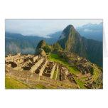 Machu tarjeta en blanco de Picchu, Perú