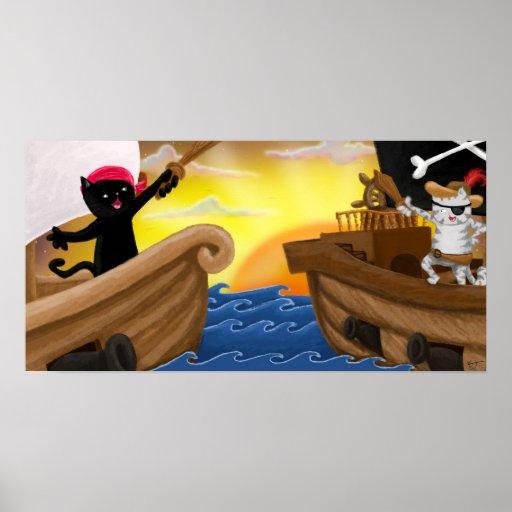 Machu y Jack en el poster del mar