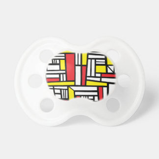 Maciej Abstract Expression Yellow Red Black BooginHead Pacifier