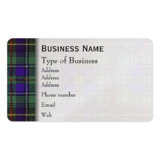 Macinnes clan Plaid Scottish tartan Business Card Templates