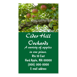 Macintosh Apples In A Tree Business Card