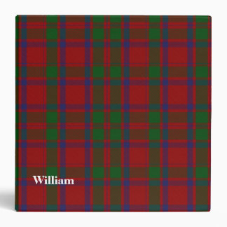MacIntosh Clan Custom Tartan Plaid Binder