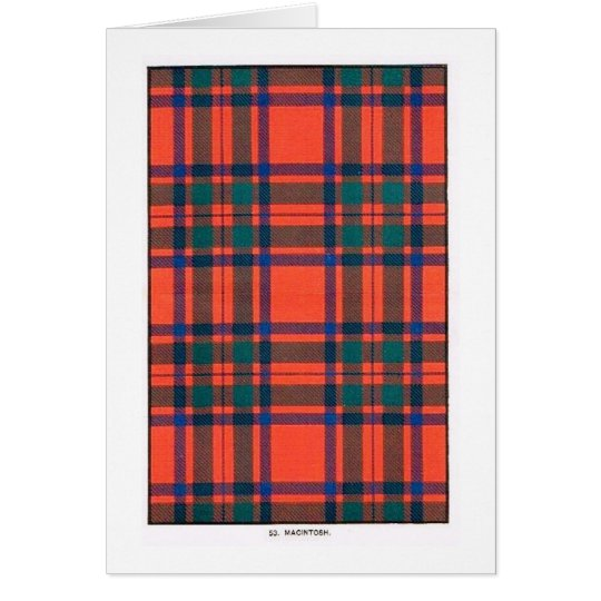 MACINTOSH FAMILY TARTAN CARD