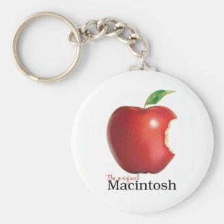 Macintosh original llavero redondo tipo pin