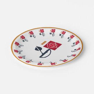 MacIntosh Rose Paper Plate