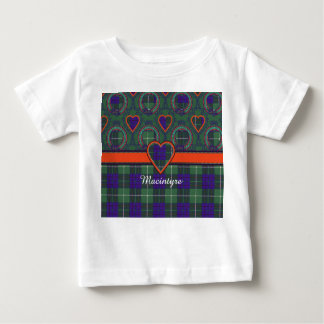 Macintyre clan Plaid Scottish tartan Baby T-Shirt