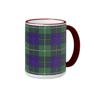 Macintyre clan Plaid Scottish tartan Ringer Mug