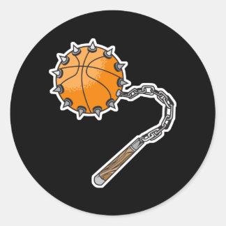 macis del azote del baloncesto pegatina redonda