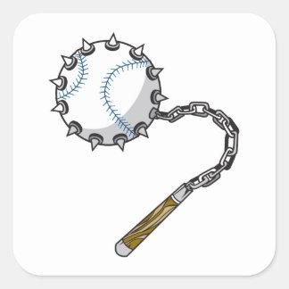 macis del béisbol pegatina cuadrada