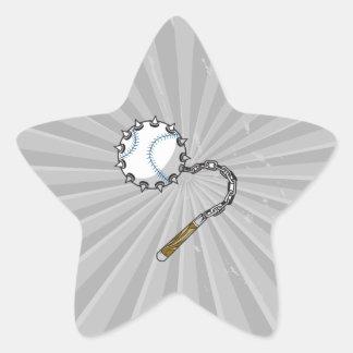 macis del béisbol pegatina en forma de estrella