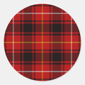 MacIver Tartan Classic Round Sticker
