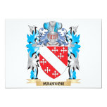 "Macivor Coat of Arms - Family Crest 5"" X 7"" Invitation Card"