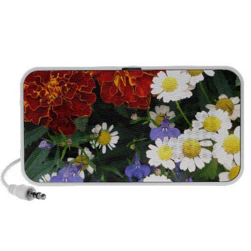 Macizo de flores colorido mini altavoces