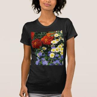 Macizo de flores colorido camiseta