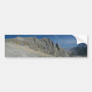 Macizo de la montaña de Partenkirchen Dreitorspitz Etiqueta De Parachoque