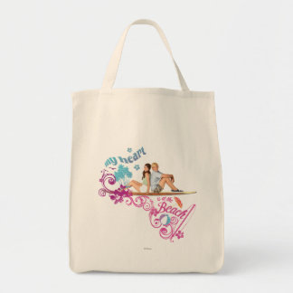Mack & Brady - My Heart is at the Beach Grocery Tote Bag