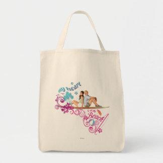 Mack & Brady - My Heart is at the Beach Canvas Bags