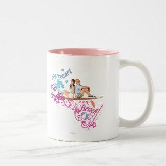 Mack & Brady - My Heart is at the Beach Two-Tone Coffee Mug