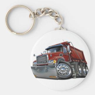 Mack Dump Truck Maroon Keychain