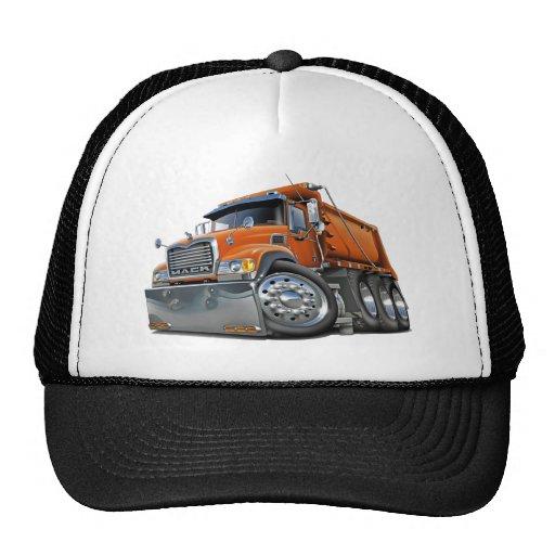 mack dump truck orange trucker hat zazzle