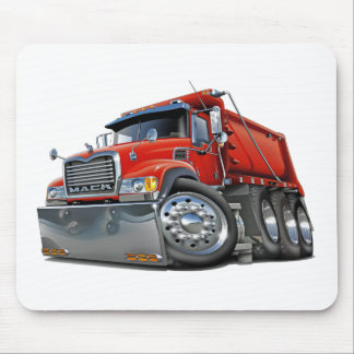 Mack Dump Truck Red Mouse Pads