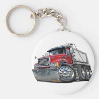 Mack Dump Truck Red-White Keychain