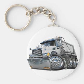 Mack Dump Truck White Keychain