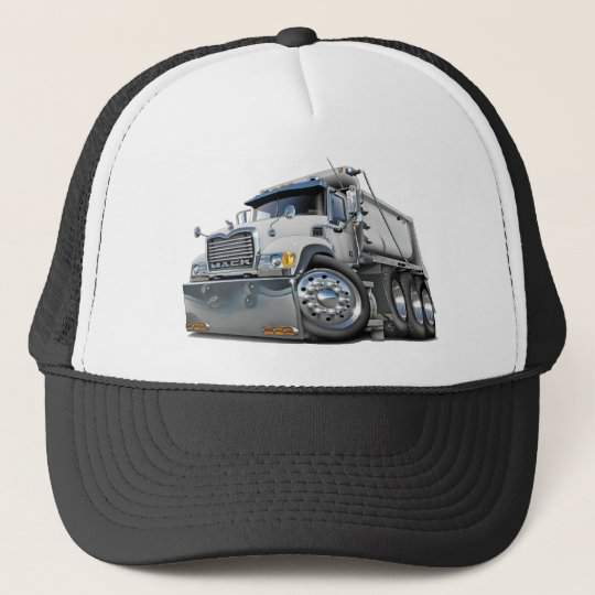Mack Dump Truck White Trucker Hat
