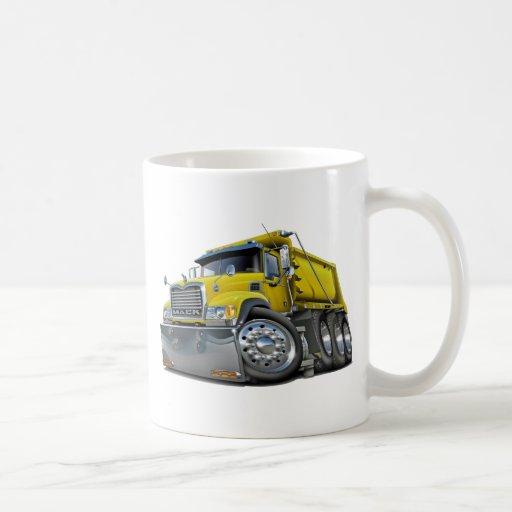 Mack Dump Truck Yellow Coffee Mug