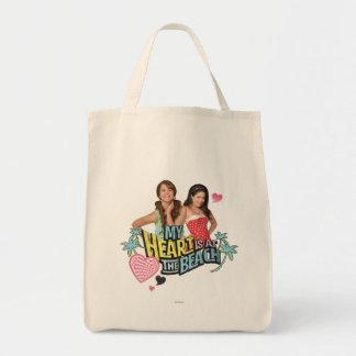 Mack & Lela - My Heart is at the Beach Tote Bag
