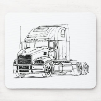 Mack Pinnacle axle back Sleeper 2011 Mouse Pad