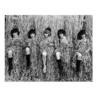 Mack Sennett Girls, 1918 Postal