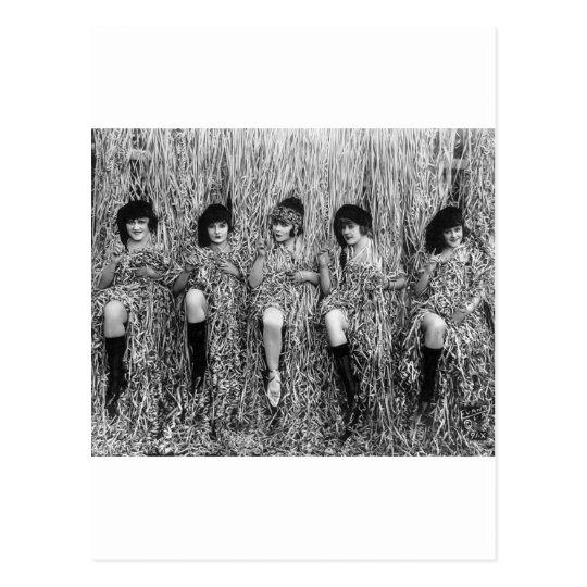 Mack Sennett Girls, 1918 Postcard