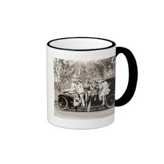 Mack Sennett Girls 1918 Vintage Beauties Ringer Mug