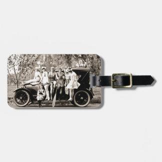 Mack Sennett Girls Bathing Beauty Queens Vintage Bag Tag