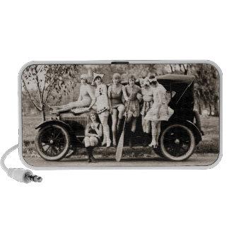 Mack Sennett Girls Bathing Beauty Queens Vintage Travelling Speakers